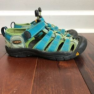 KEEN Turquoise and Lime Waterproof Sandals